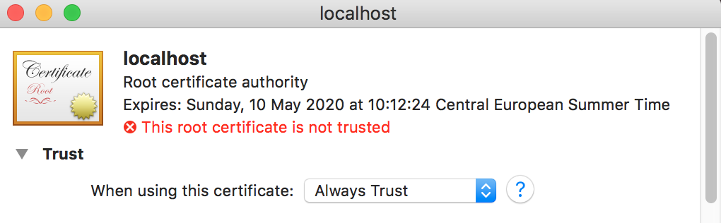 How to install an SSL certificate on localhost / MAMP